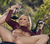 Brea Bennett Enjoys The Fresh Morning Air Outdoors 13