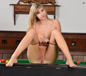 Holly Anderson Fingers Her Pink Pussy Over The Billiards Tab 7