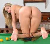 Holly Anderson Fingers Her Pink Pussy Over The Billiards Tab 10
