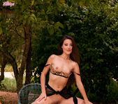 Lorena G Satisfies Her Aroused Pussy Under The Tree 10