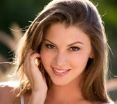 Amber Sym Takes Off Her Top In Warm Sunlight 4