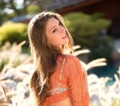 Amber Sym Takes Off Her Top In Warm Sunlight 14