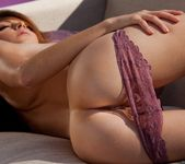 Amber Sym Removes Her Purple Panties 7