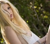 Charlotte Stokely Takes Off Her Jean Shorts And Teal Panties 11