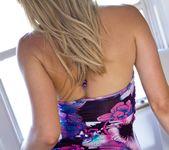 Lena Nicole Slowly Removes Her Purple Dress 3