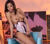 Luciana Takes Everything Off On A Blue Couch 12
