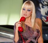 Jana Cova Plays With A Red Phone 2
