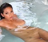 Adrianna Luna - Sheer Turquoise Micro Bikini 13