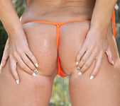 Niki Lee Young - Sheer Orange in Shower 6