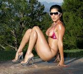 Sunny Leone - Shiny Fuchsia Scrunch Butt 10