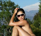 Sunny Leone - Shiny Fuchsia Scrunch Butt 13
