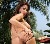 Madison Ivy - Black Latex Tube Top Bikini 10