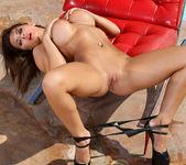 Madison Ivy - Black Latex Tube Top Bikini 12
