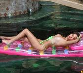 Shyla Jennings - Sheer Green Bikini & Raft 11