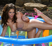 Emily Addison - Pink G-string in Inflatable Pool 9
