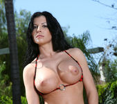 Rebeca Linares - Red & Black Zebra Stripes 7