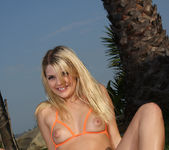 Jana Jordan - Orange Peekaboo Bikini 6