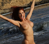 Erika Jordan - Orange G-string on the Beach 16