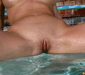 Carli Banks - Tie-dye Thong in the Pool 10