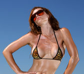 Heather Vandeven - Exotic Leopard G-string Bikini 3