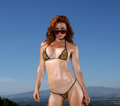 Heather Vandeven - Exotic Leopard G-string Bikini 4