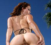 Heather Vandeven - Exotic Leopard G-string Bikini 7