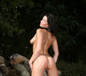 Devi Emmerson - Orange Thong Bikini in the Pool 11