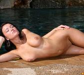 Devi Emmerson - Orange Thong Bikini in the Pool 13