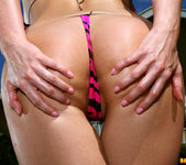 Carli Banks - Pink Zebra Thong Bikini 4