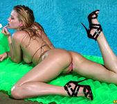 Carli Banks - Pink Zebra Thong Bikini 9
