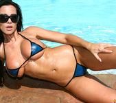 Laura Lee - Transparent Blue Latex Bikini 9