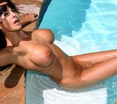 Laura Lee - Transparent Blue Latex Bikini 14