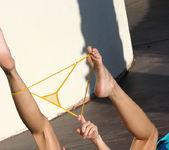 Nevaeh - Sheer Gold Micro Bikini 11