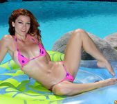 Heather Vandeven - Pink Polka-dot Thong Bikini 2