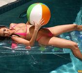 Valentina Vaughn - Sheer Pink Thong Bikini in the pool 3