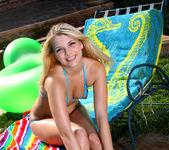 Jana Jordan - Blue Peekaboo String Bikini & Oil 5
