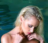Zdenka Podkapova - Hot Pink Crochet Bikini in Pool 16