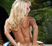Jana Cova - White Mesh Bikini & Toy 12