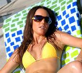 Erica Ellyson - Gold Thong Bikini 3