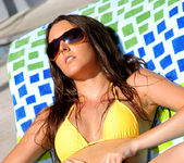 Erica Ellyson - Gold Thong Bikini 5