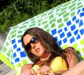 Erica Ellyson - Gold Thong Bikini 10