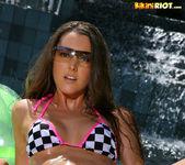 Erica Ellyson - Checkers String Bikini 4