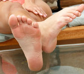 Maya Grand Loves the Feeling of a Cock Between Her Feet 2