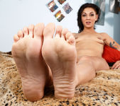 Aimee Black Wraps Her Near Perfect Feet Around a Huge Cock 8
