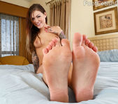 Karmen Karma Puts Her Sexy Feet Around a Hard Cock 5