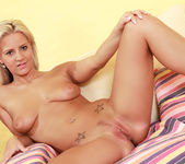 Nataly Cherie On Her Back Rubbing Her Pink So Hard 13