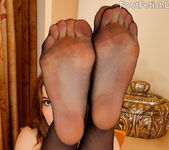 Kasey Warner Rubs That Cock With Her Black Stockings On 2