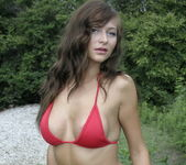 London Hart - Tiny Red Bikini - SpunkyAngels 8