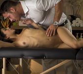 Veronica Rodriguez Bends Over On A Massage Bed 3