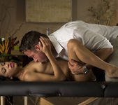 Veronica Rodriguez Bends Over On A Massage Bed 4